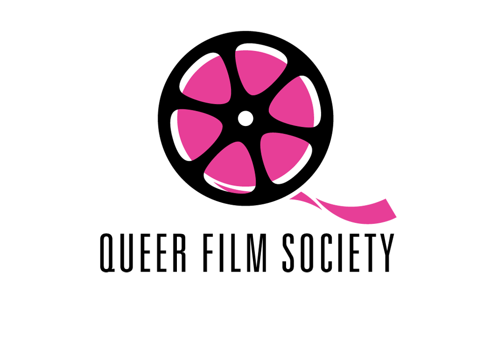 Illustrative initial mark for site promoting gay and lesbian filmmaking.