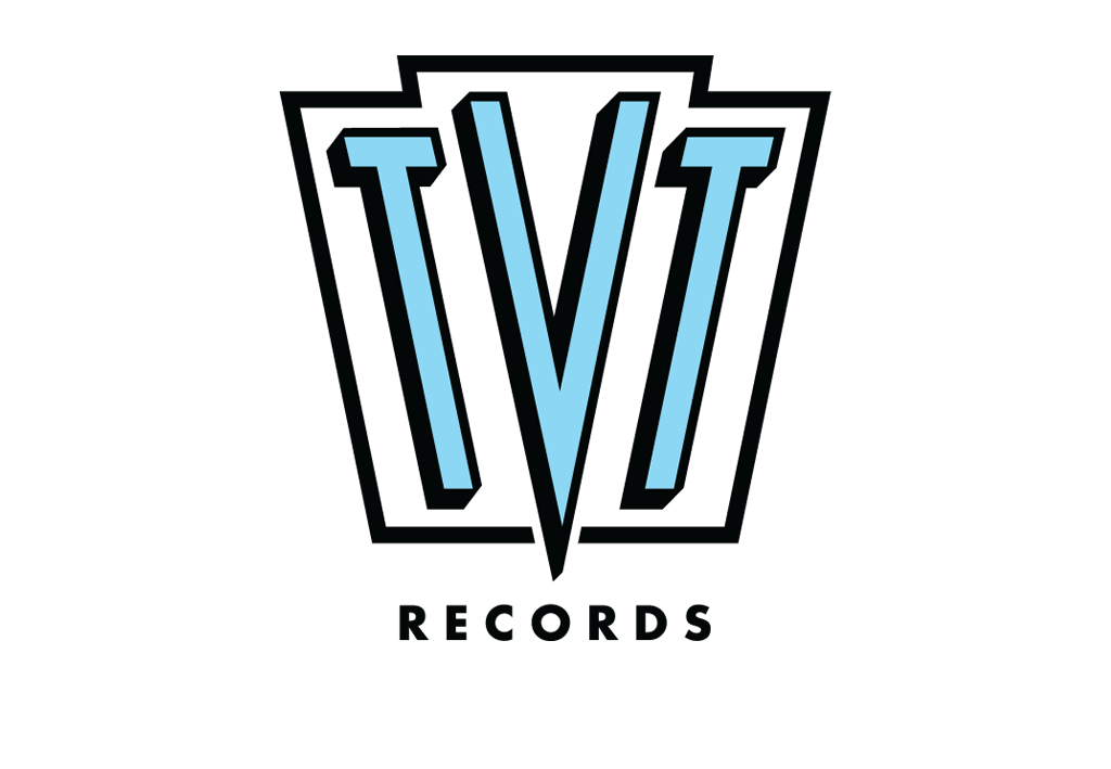 Retro emblem for indie record label originally known for TV theme compilations.